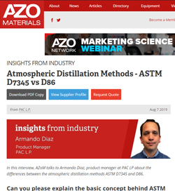 Atmospheric Distillation Methods - ASTM D7345 vs D86