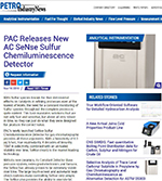 PAC Releases new AC SeNse Sulfur Chemiluminescense Detector