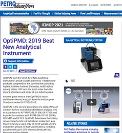 OptiPMD: 2019 Best New Analytical Instrument